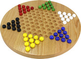 Maple Landmark Wooden Chinese Checkers Game, Oak