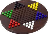 Maple Landmark Wooden Chinese Checkers Game, Dark Maple