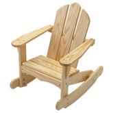 Little Colorado Child's Adirondack Rocking Chair - Unfinished