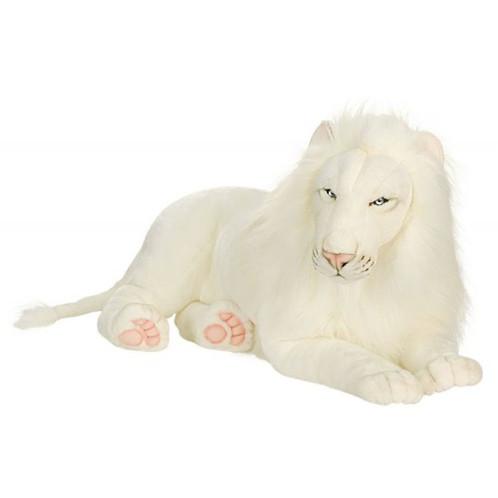 Hansa White Lion Stuffed Animal #5243.