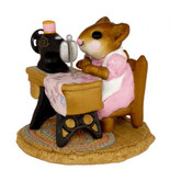 Wee Forest Folk Miniature - Miss Bobbin (M-40-Pink).
