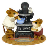 Wee Forest Folk Miniature - The Old Black Stove (M-185-Tan)