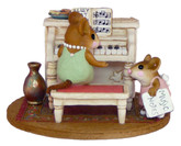 Wee Forest Folk Miniature - Her Music Lesson (M-282b)