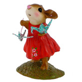 Wee Forest Folk Miniature Figurine - A Wish for Happiness (M-321b)
