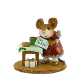 Wee Forest Folk Miniature Figurine - A Treat for Santa (M-341)