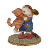 Wee Forest Folk Miniature - Kitty Cuddle (M-355-Blue)
