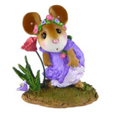 Wee Forest Folk Miniature Figurine - A Playful Breeze (M-407-Purple)