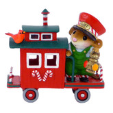 Wee Forest Folk Miniature - Christmas Caboose (M-453f)
