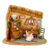 Wee Forest Folk Miniature - Coaxing Kitty with Kibble (M-480)