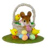 Wee Forest Folk Miniature - Easter Basket Bounty Girl (M-504a)