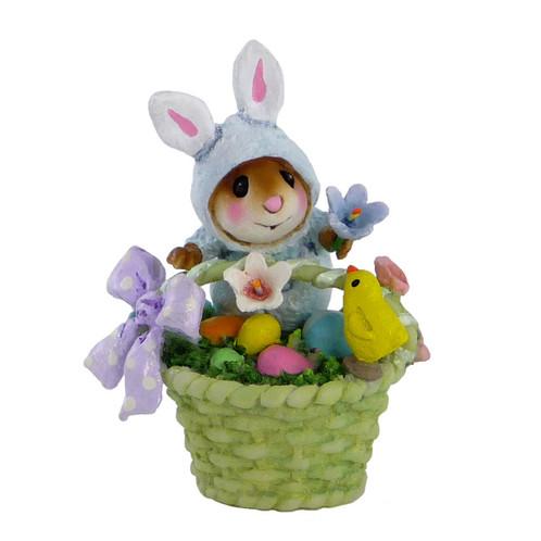 Wee Forest Folk Miniature - Wee Bunny's Basket (TM-5)