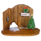 Wee Forest Folk Miniature - Christmas Barn Door Backdrop (NM-4a)