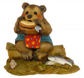 Wee Forest Folk Miniature - Lunch on a Log (BB-3-Teal)