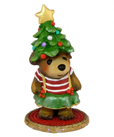 Wee Forest Folk Miniature - My Holiday Hat (BB-17-Stripes)