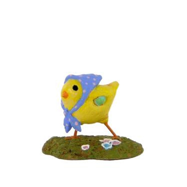 Wee Forest Folk Miniature - Little Chick with Kerchief (A-2-Blue)