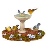 Wee Forest Folk Miniature Figurine - Birdbath (A-9)