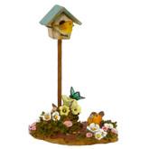 Wee Forest Folk Miniature Figurine - Birdhouse (A-10)