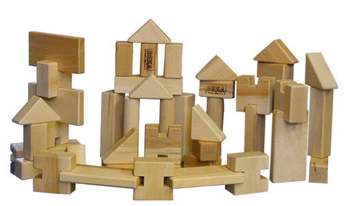 Beka Wooden Blocks - 52 Piece Little Builder & Whimsie Set