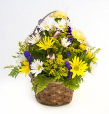 "6"" Seasonal Flower Basket"