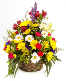 "8"" Seasonal Flower Basket"