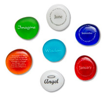 Beautiful glass stones with meaningful words. Perfect way to describe your words.