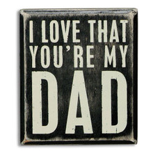 Wooden Dad Plaque