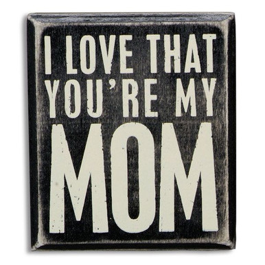 Wooden Mom Plaque
