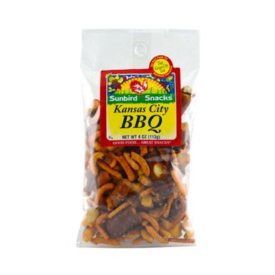 Bar-B-Que Corn Stcks, Corn Nuggets, Barbeque Pretzel Pieces, Roasted and Honey Roasted Peanuts.