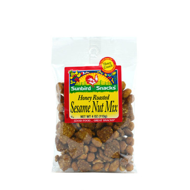 Honey Roasted Peanuts, Honey Almonds and Honey Sesame Chips