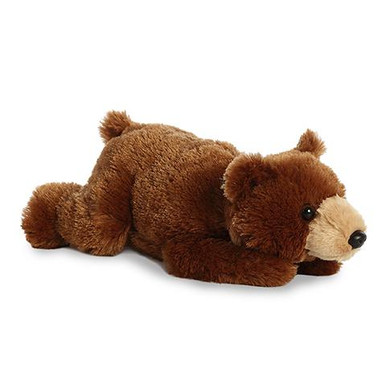 Grizzly Bear makes a great and fluffy choice for any stuffed bear lover! •12 inches in size. •Top quality fluffy and soft material. •Bean filled to ensure stability and quality.