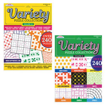 Book contains a variety of puzzles and games.