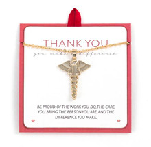 Thank you nurse pendant necklace