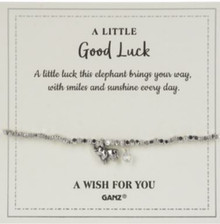 "Good Luck Wish For You ""A little luck this elephant brings your way with smiles and sunshine every day""."