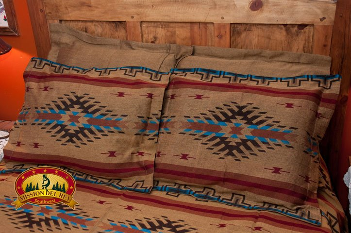 Camel Southwest Pillow Sham with Isleta