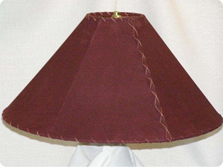 burgundy leather lamp shades