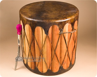 Tarahumara Indian Drum Tables