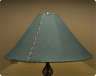 green leather lamp shades