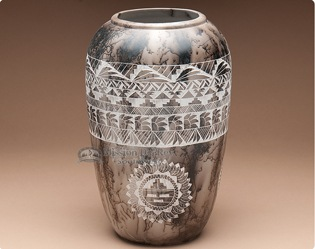 Navajo pottery designs Ceremonial Horse Hair Pottery The Crow And The Cactus Native American Navajo Horse Hair Pottery Indian Navajo Pottery