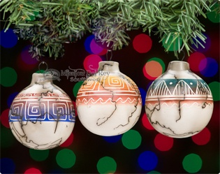 Native American Christmas Ornaments.Rustic Southwest Christmas Ornaments