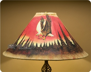painted leather lamp shades