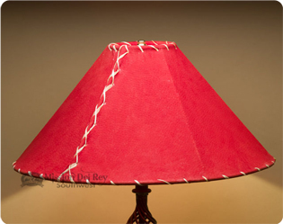 red leather lamp shades