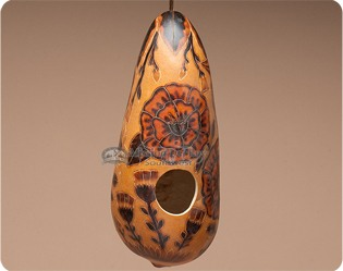 southwestern-gourd-bird-houses-feeders