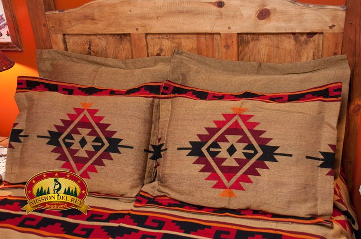Camel Southwest Pillow Sham with Yavapai