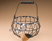 Metal Egg Gathering Basket