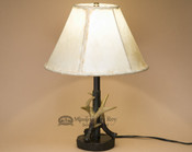 Faux Antler Lamp & Rawhide Lamp Shade
