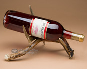 Real antler wine rack - single.