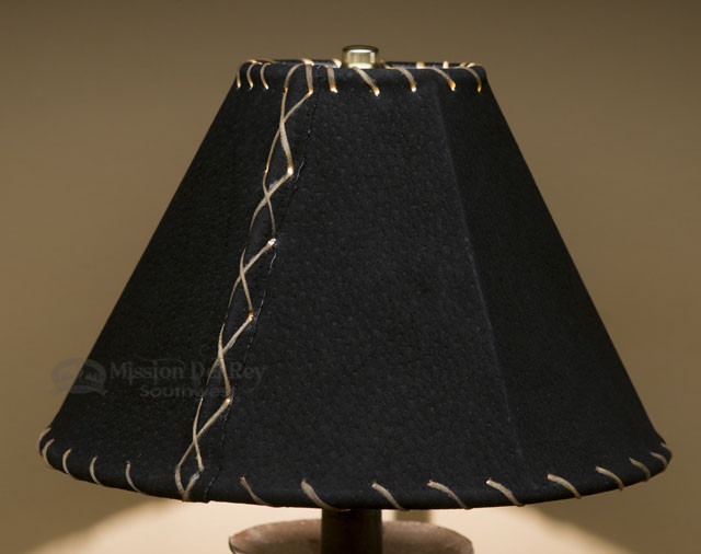 Western Leather Lamp Shade Black Pig Skin