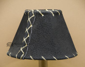 "6"" Black Leather Chandelier Shade"