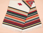 Colorful Zapoteca woven blanket.