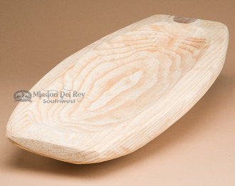 Rustic Unfinished Carved Wooden Bowl - Boat